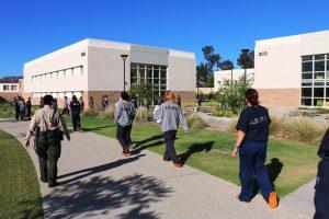 Inmates walking